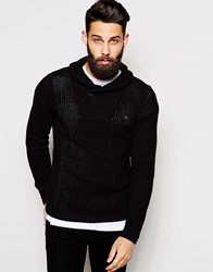 G Star G Star Shawl Jumper Ruzmet Knit Black