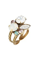 Sorrelli Intermix Crystal Ring Clear White