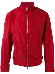 Burberry Brighton Bomber Jacket Men Cotton Polyester M Red