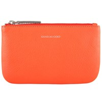 John Lewis Collection Weekend By Hayley 'Good As Gold' Slogan Leather Coin Purse Orange