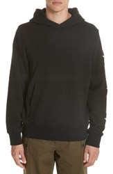 Ovadia And Sons Star Patch Hoodie Black White