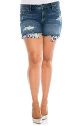 Slink Jeans Plus Size Women's Exposed Pocket Denim Shorts
