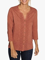 Fat Face Luella Embroidered Top Roasted Red