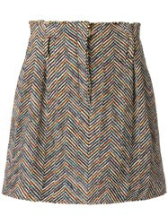 Missoni Embroidered Mini Skirt Nude And Neutrals