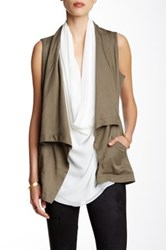Fate Drape Field Vest Green