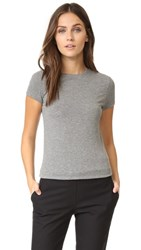 Atm Anthony Thomas Melillo Cap Sleeve Crew Neck Tee Heather Grey