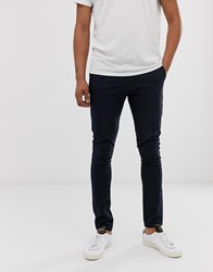 Jack And Jones Intelligence Skinny Fit Chinos In Navy