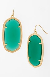 Women's Kendra Scott 'Danielle Large' Oval Statement Earrings Green Onyx