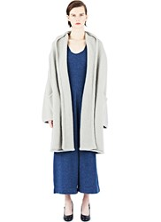 Lauren Manoogian Knitted Capote Hooded Coat Neutrals