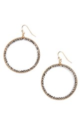 Panacea Women's Crystal Circle Earrings