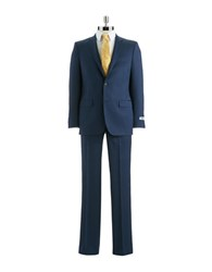 Dkny Slim Fit Two Piece Wool Suit Navy