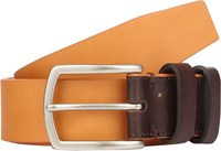 Barneys New York Leather Belt Orange