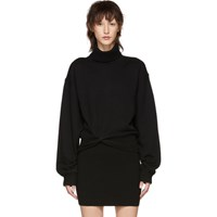 Alexander Wang T By Black Double Layered Twist Turtleneck