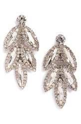 Women's Cara Rhinestone Leaf Drop Earrings
