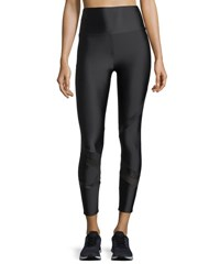 Lanston Grant Geo Block Ankle Performance Leggings Black