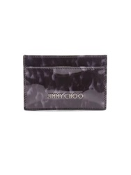Jimmy Choo Dean Turtle Patent Leather Card Case Black Multi