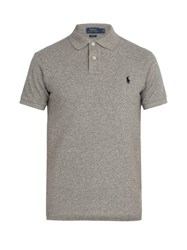 Polo Ralph Lauren Slim Fit Cotton Polo Shirt Dark Grey