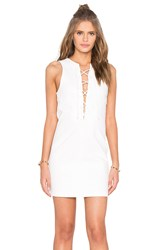 Kendall Kylie Lace Front Dress White