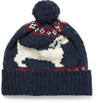 Thom Browne Hector Intarsia Wool And Mohair Blend Bobble Hat Navy