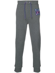 Versus Embroidered Safety Pin Sweatpants Grey