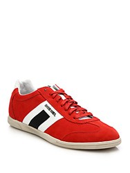 Diesel Vintage Happy Hour Low Sneakers Red White