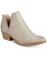Bar Iii Terra Cutout Block Heel Booties Only At Macy's Women's Shoes Taupe