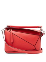 Loewe Puzzle Small Grained Leather Cross Body Bag Red