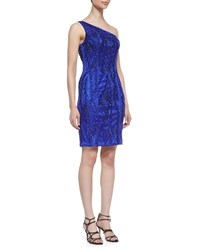 Sue Wong One Shoulder Beaded Dress Size 0