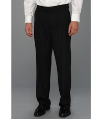 Perry Ellis Classic Fit Flat Front Sharkskin Pant Black Ice Men's Dress Pants