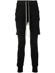 Rick Owens Cargo Layered Jogging Trousers Black