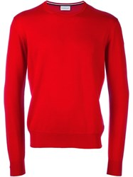 Moncler Classic Knit Sweater Red