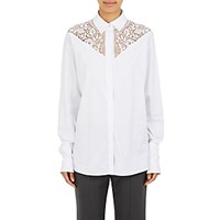 Stella Mccartney Women's Cotton Lace Inset Blouse White