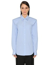 Jil Sander Oversized Shoulders Striped Poplin Shirt