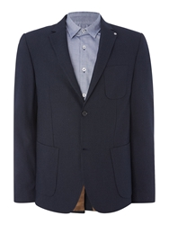Julian Pin Dot Shawl Collar Blazer Navy
