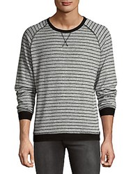 Hyden Yoo Hacci Stripe Sweatshirt Grey Black