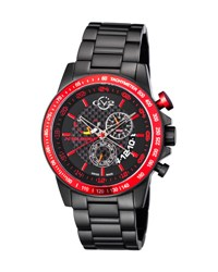 Gv2 45Mm Scuderia Men's Chronograph Bracelet Watch Black