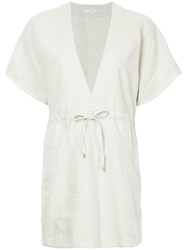 Venroy V Neck Relaxed Dress Nude And Neutrals