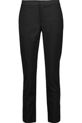 Raoul Ember Lace Up Stretch Cotton Blend Straight Leg Pants Black