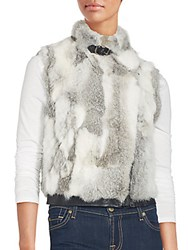 Saks Fifth Avenue Sleeveless Fur Vest Black