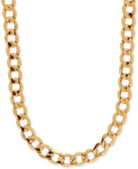 Macy's Curb Link Chain Necklace In 10K Gold Yellow Gold