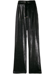 Balmain Iridescent Drawstring Trousers Black