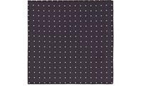 Cifonelli Men's Polka Dot Silk Twill Pocket Square Dark Grey White Black