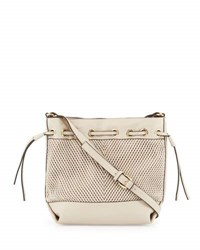 French Connection Dallas Woven Drawstring Bucket Bag African St