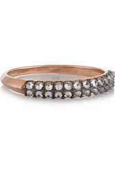 Katie Rowland Zelle 18 Karat Rose Gold Plated Quartz Ring Metallic