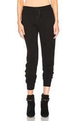 T By Alexander Wang French Terry Sweatpants In Black