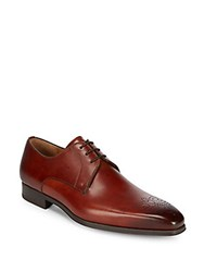 Saks Fifth Avenue By Magnanni Lace Up Leather Shoes Cognac