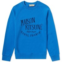 Maison Kitsune Palais Royal Crew Sweat Blue