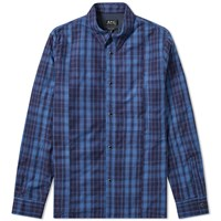 A.P.C. Decalee Light Padded Overshirt Blue