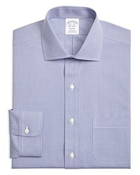 Brooks Brothers Textured Classic Fit Dress Shirt Navy