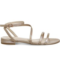 Office Sugar Asymmetric Sandals Rose Gold Hologram